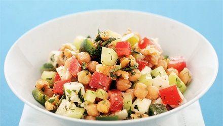 ensalada de garbanzos recetas adn nutrición jerez dietistas nutricionistas perdida de peso con salud