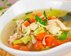 caldo de pollo clinica adn nutricion dieta equilibrada alimentacion saludable recetas sanas perdida de peso nutricion infantil jerez cadiz