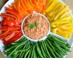 hummus con crudites de verduras clinica adn nutricion alimentacion saludable recetas adn
