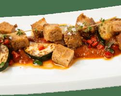 seitán con verduras vegetarianismo nutricion equilibrada clinica adn nutrición veganismo recetas