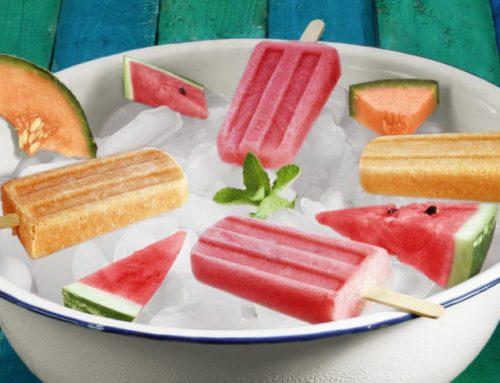 Helado de sandía y melón