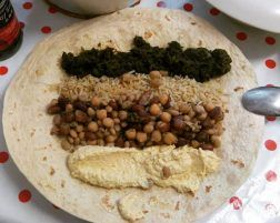 Tortita de legumbres y tahini