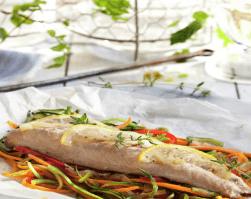 caballa en papillote, receta de pescado, receta con verduras, pérdida de peso, omega 3, clinica adn nutricion, clinica jerez, nutricion deportiva